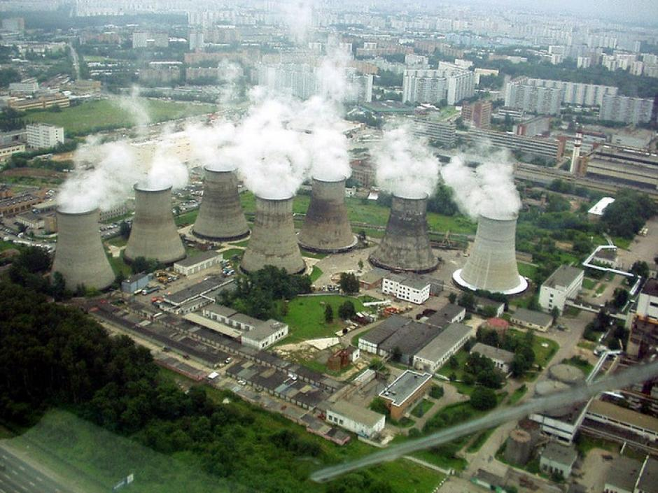 """Moscow Power Plant 21 in Korovino, the Cooling Towers"""