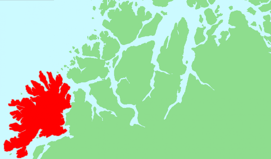 Senja på Norgeskartet